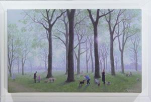 朝霧のケンジントン公園