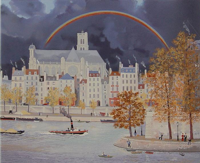虹のかかる教会