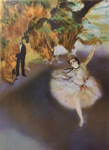 舞台の踊り子(エスタンプ)