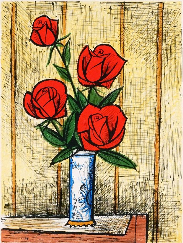 4本の赤いバラ